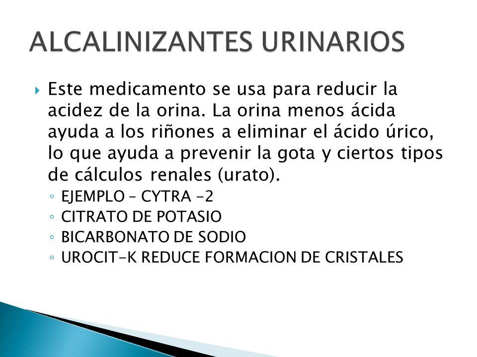 ALCALINIZANTES URINARIOS