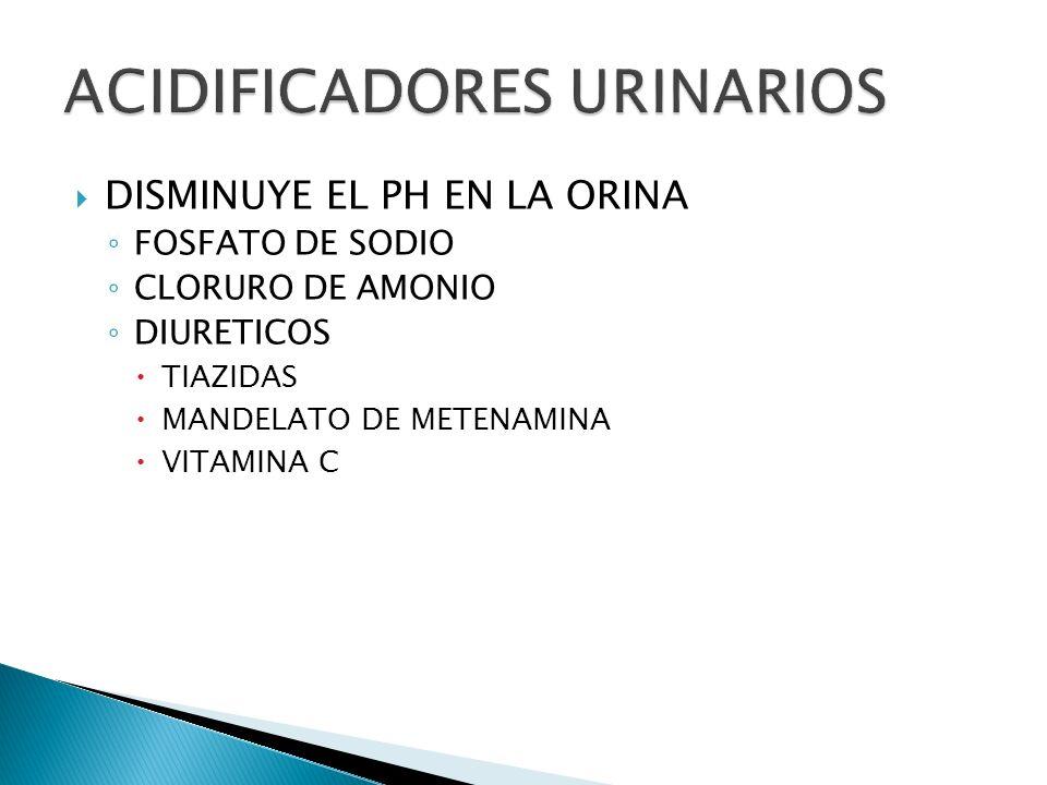 ACIDIFICADORES URINARIOS