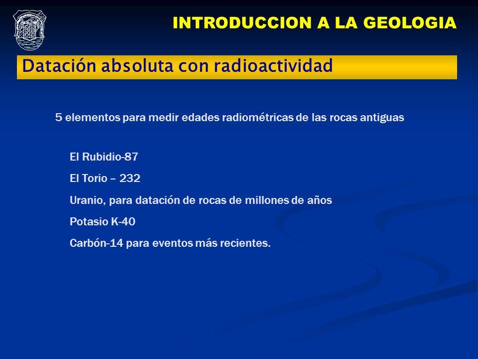 INTRODUCCION A LA GEOLOGIA