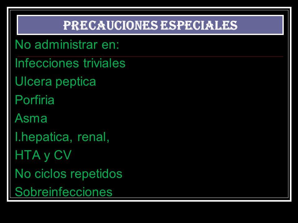 PRECAUCIONES ESPECIALES.