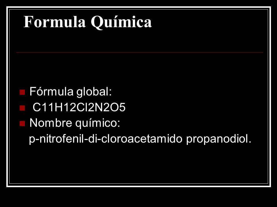 Formula Química Fórmula global: C11H12Cl2N2O5 Nombre químico:
