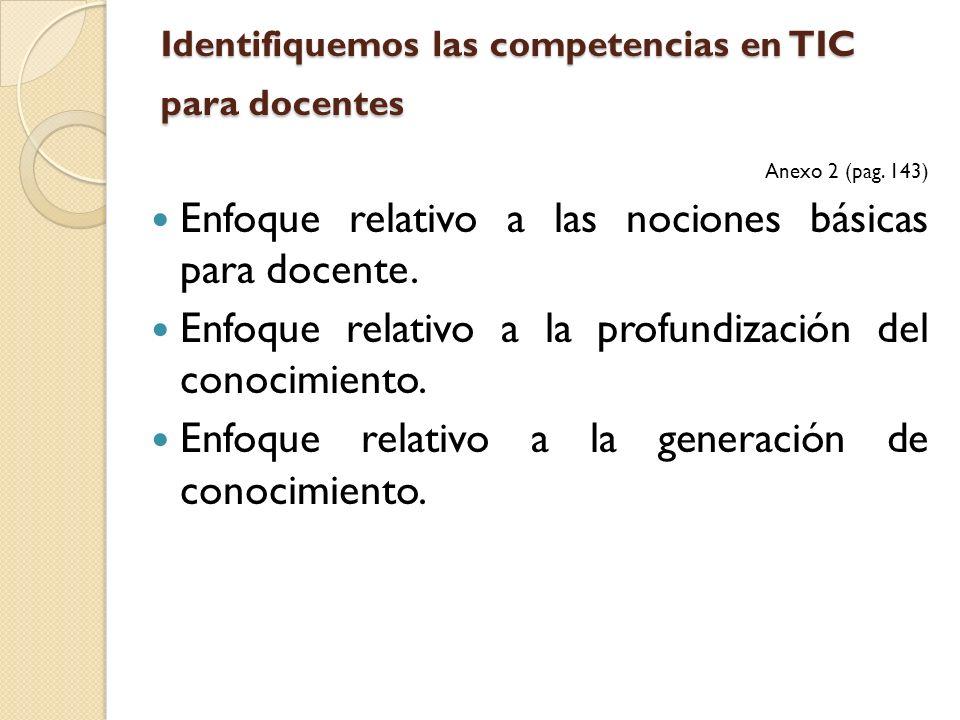 Identifiquemos las competencias en TIC para docentes
