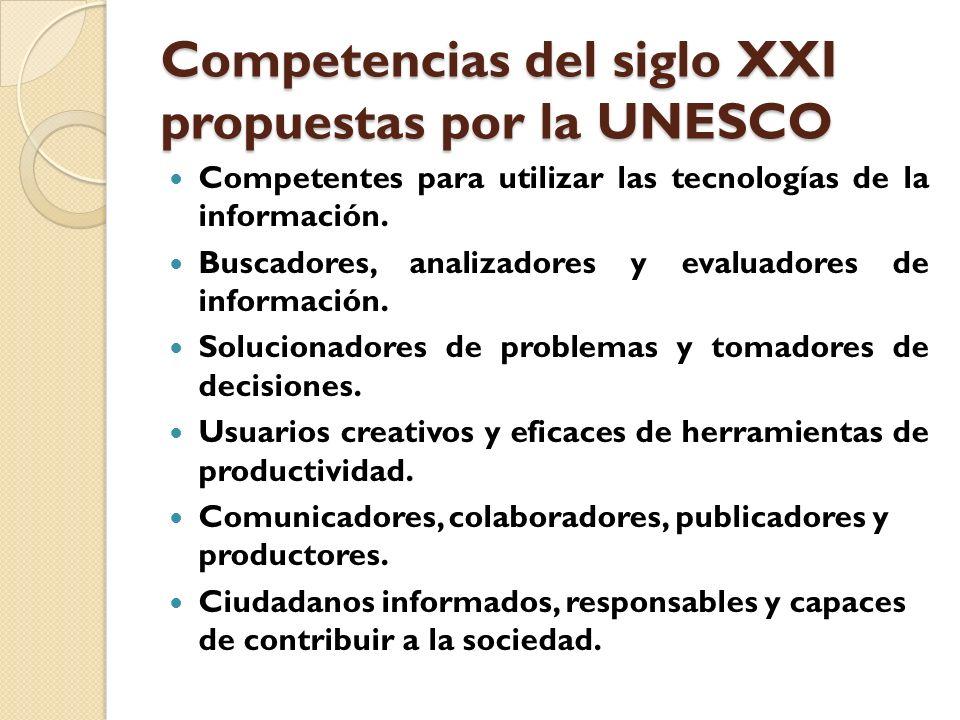 Competencias del siglo XXI propuestas por la UNESCO