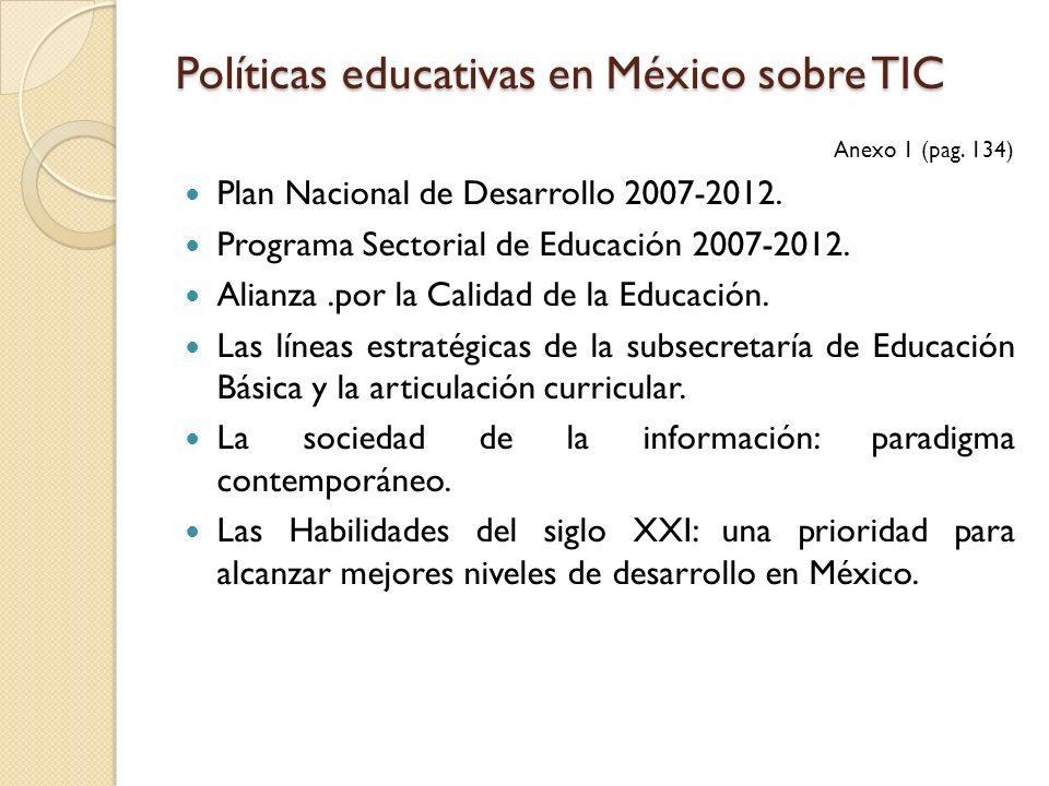 Políticas educativas en México sobre TIC