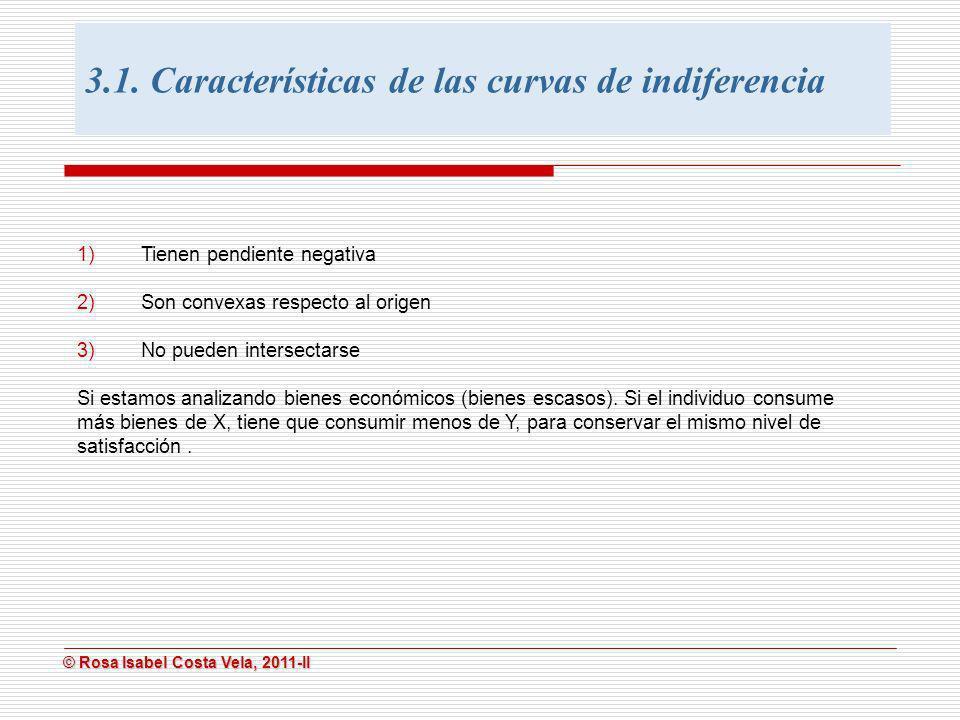 3.1. Características de las curvas de indiferencia