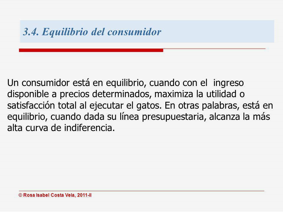 3.4. Equilibrio del consumidor