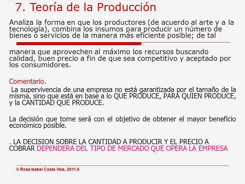 7. Teoría de la Producción
