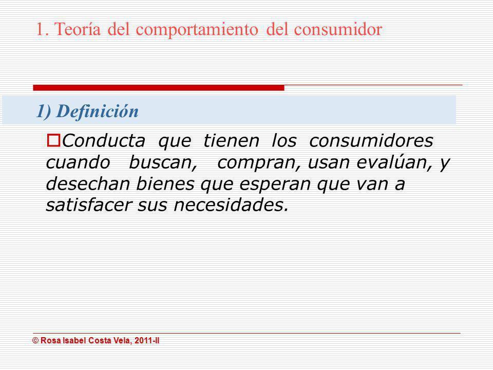 1. Teoría del comportamiento del consumidor