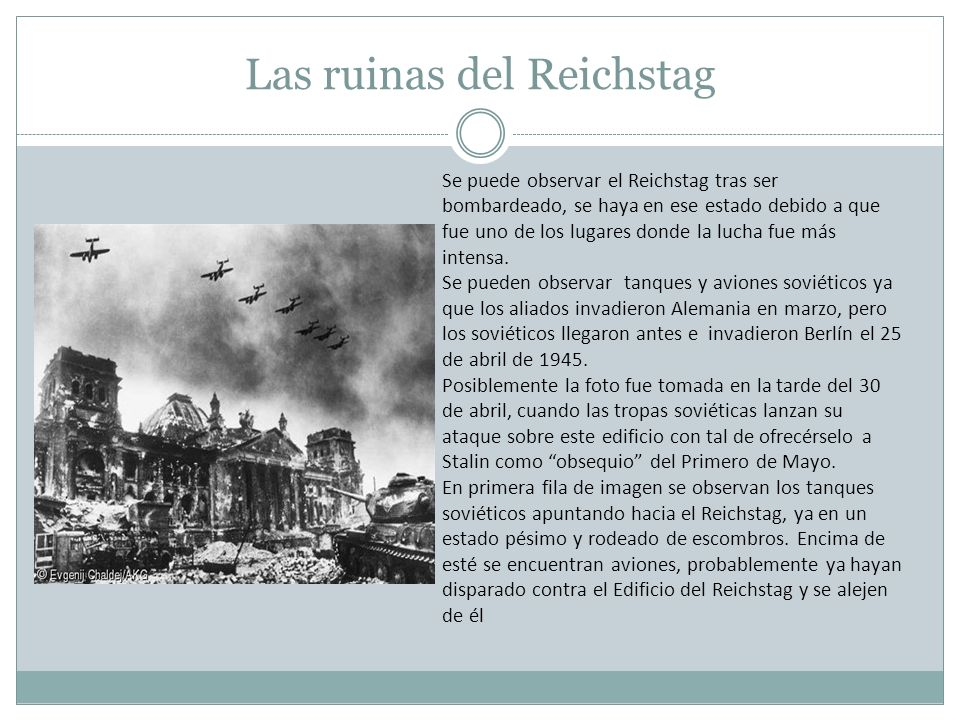 Las ruinas del Reichstag