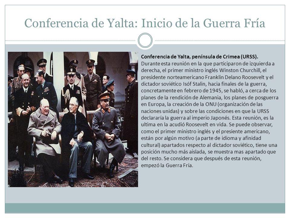 Conferencia de Yalta: Inicio de la Guerra Fría