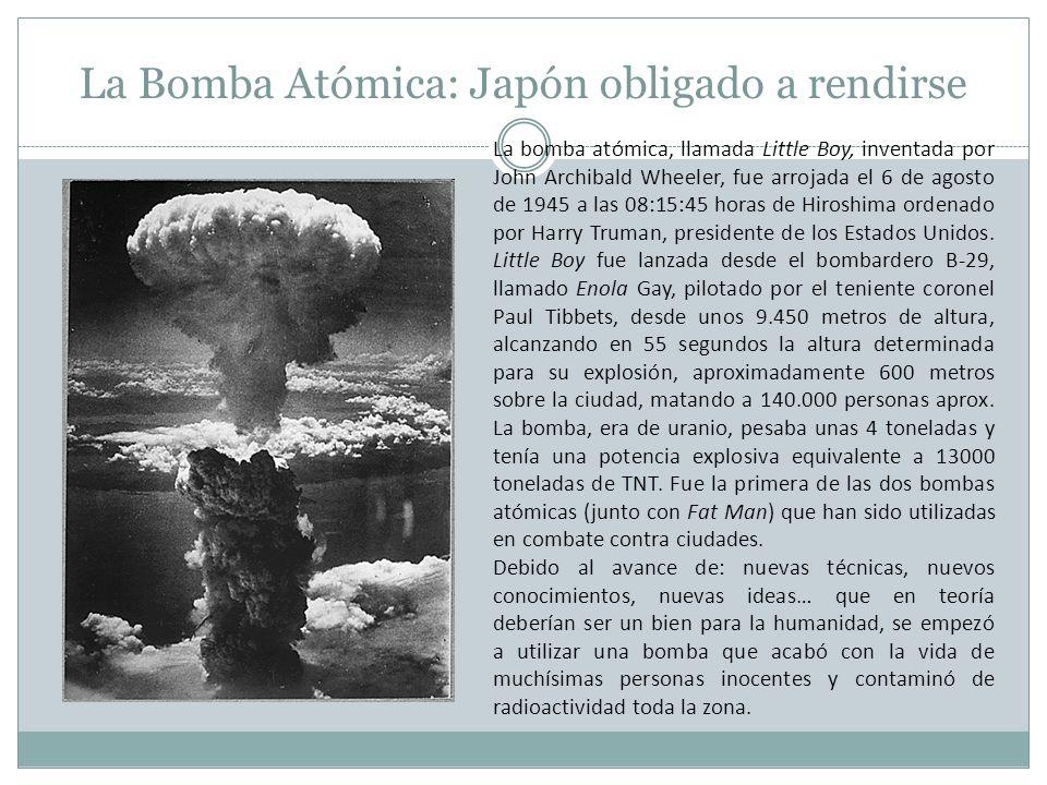 La Bomba Atómica: Japón obligado a rendirse