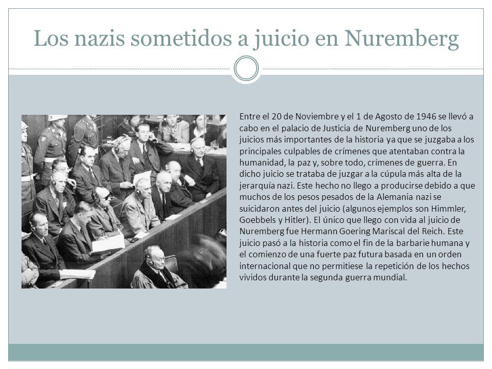 Los nazis sometidos a juicio en Nuremberg