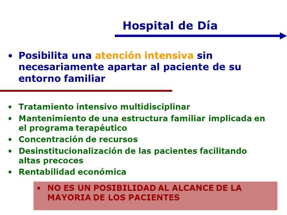 Hospital de Día Posibilita una atención intensiva sin necesariamente apartar al paciente de su entorno familiar.