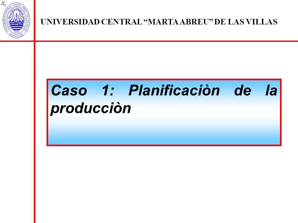 Caso 1: Planificaciòn de la producciòn