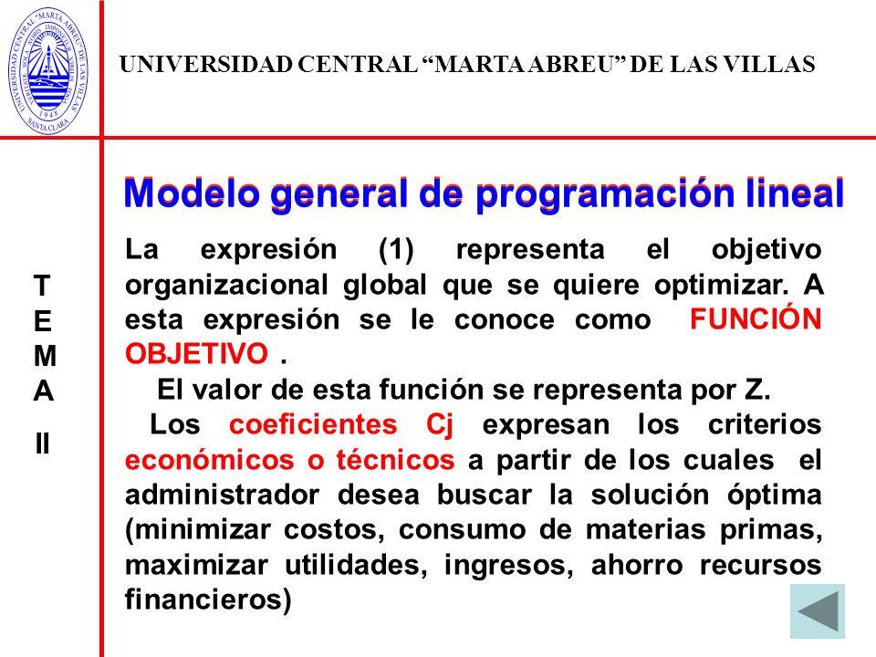 Modelo general de programación lineal