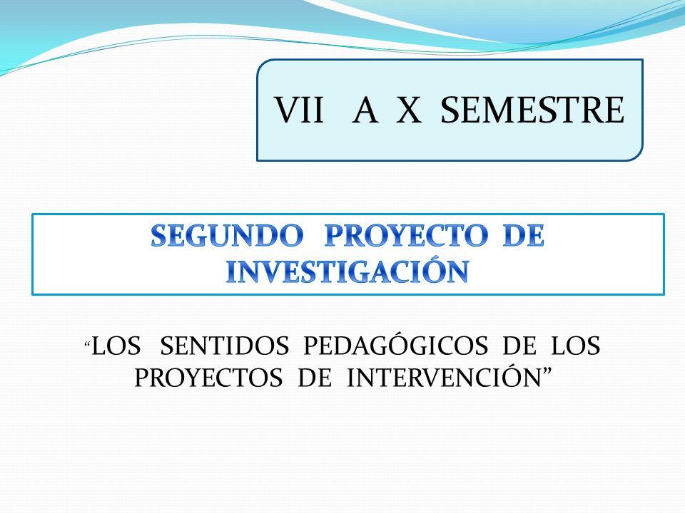 SEGUNDO PROYECTO DE INVESTIGACIÓN