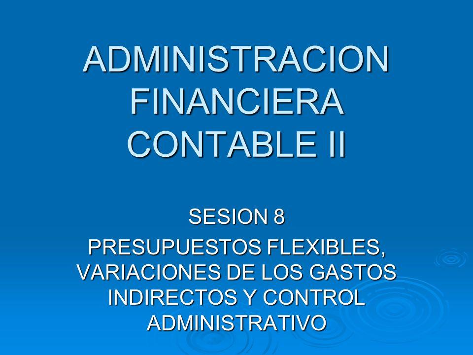 ADMINISTRACION FINANCIERA CONTABLE II