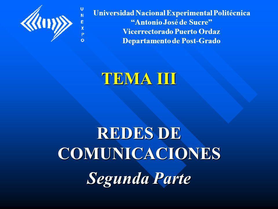 REDES DE COMUNICACIONES Segunda Parte