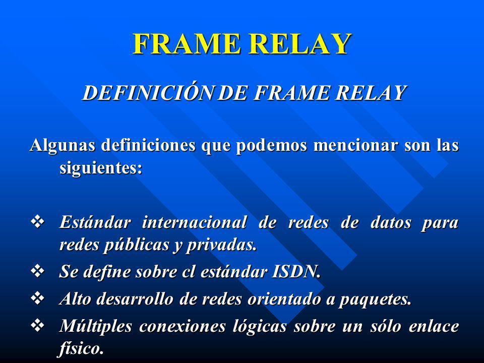 DEFINICIÓN DE FRAME RELAY