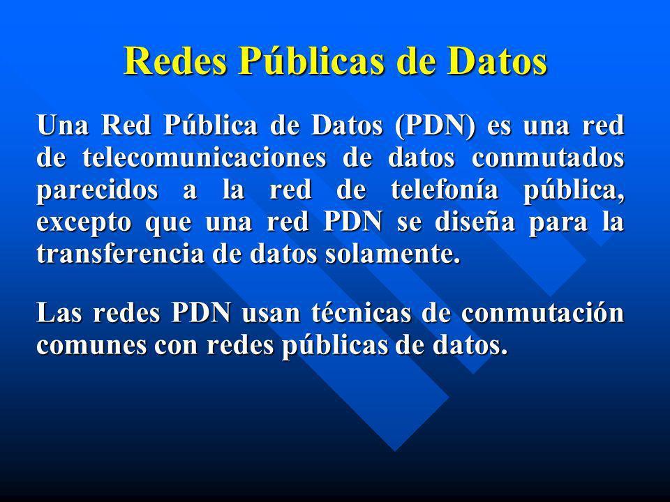 Redes Públicas de Datos