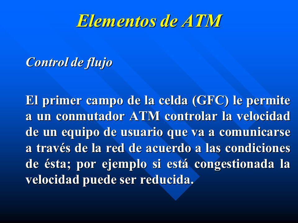 Elementos de ATM Control de flujo