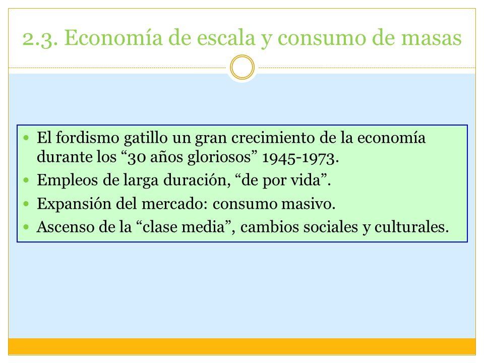 2.3. Economía de escala y consumo de masas
