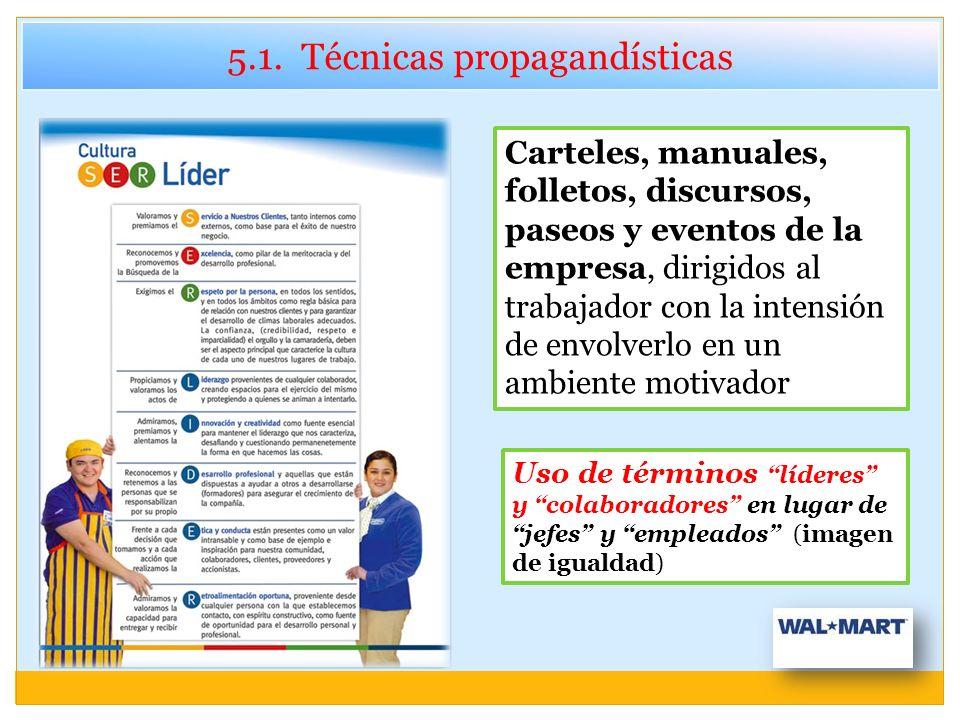 5.1. Técnicas propagandísticas