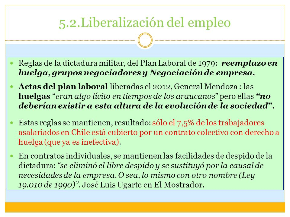 5.2.Liberalización del empleo