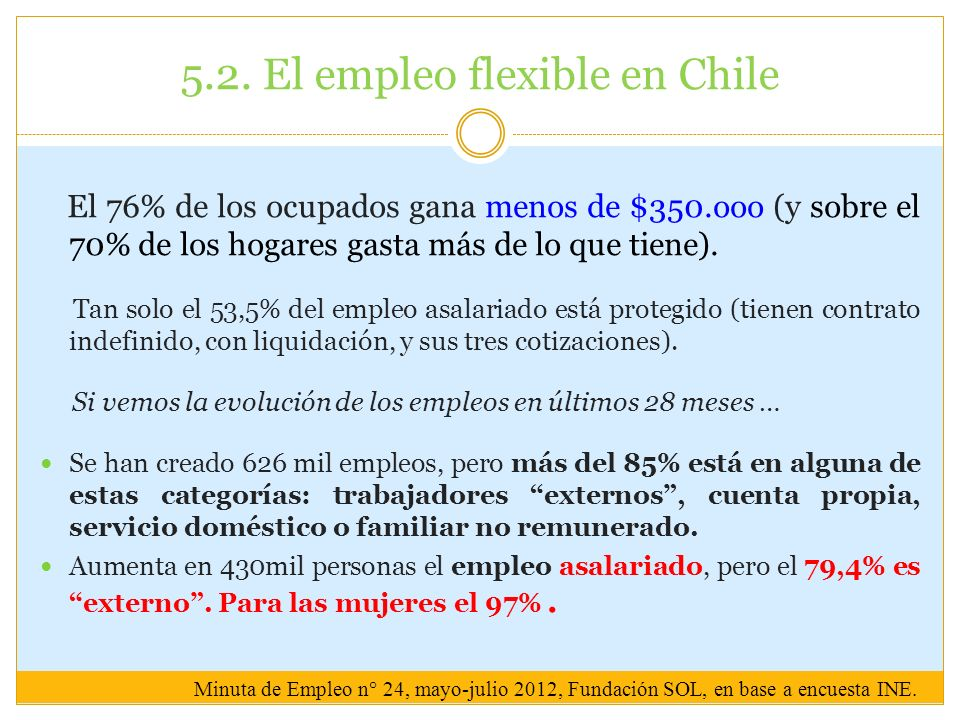 5.2. El empleo flexible en Chile