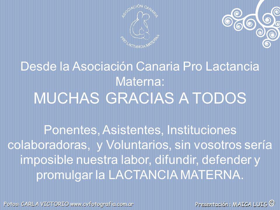 Desde la Asociación Canaria Pro Lactancia Materna: