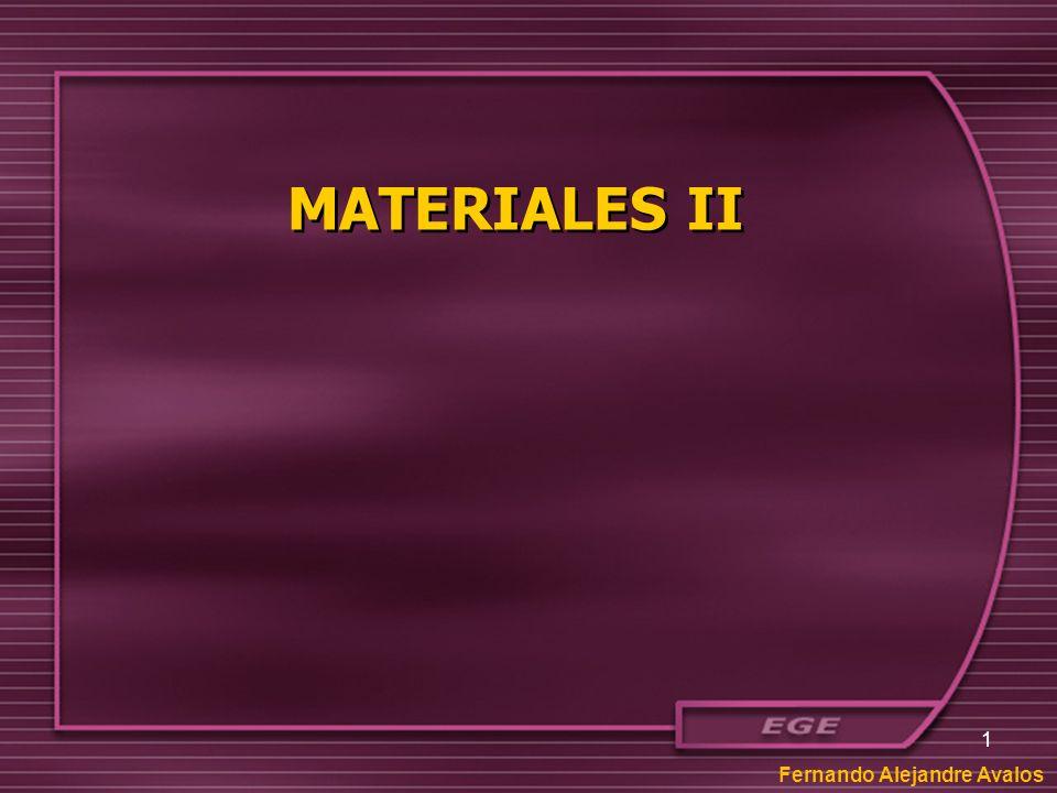 MATERIALES II Fernando Alejandre Avalos