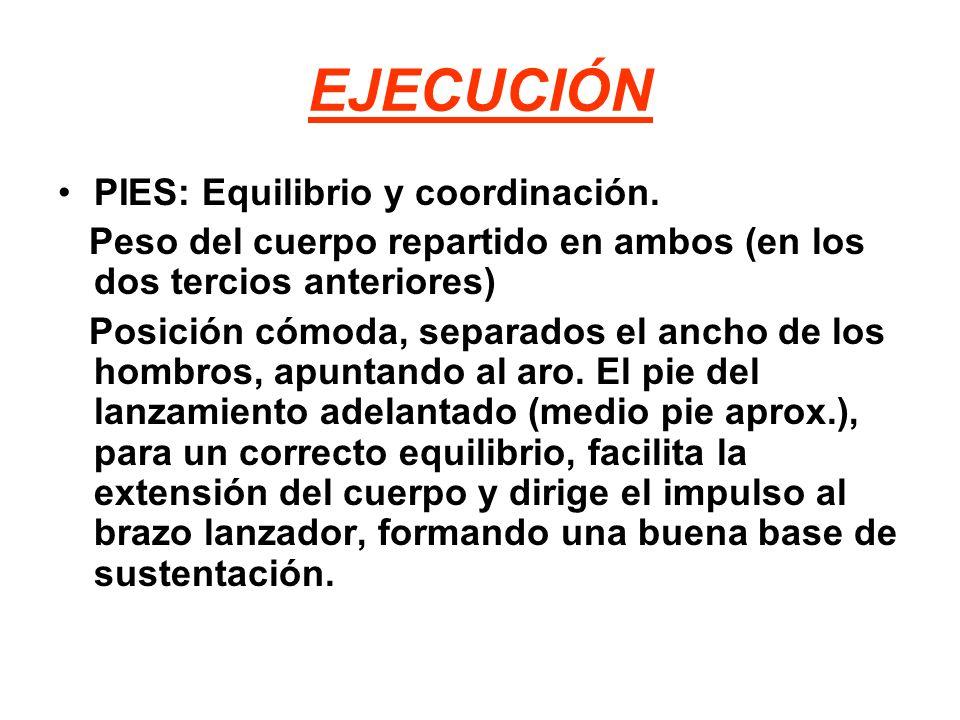 EJECUCIÓN PIES: Equilibrio y coordinación.
