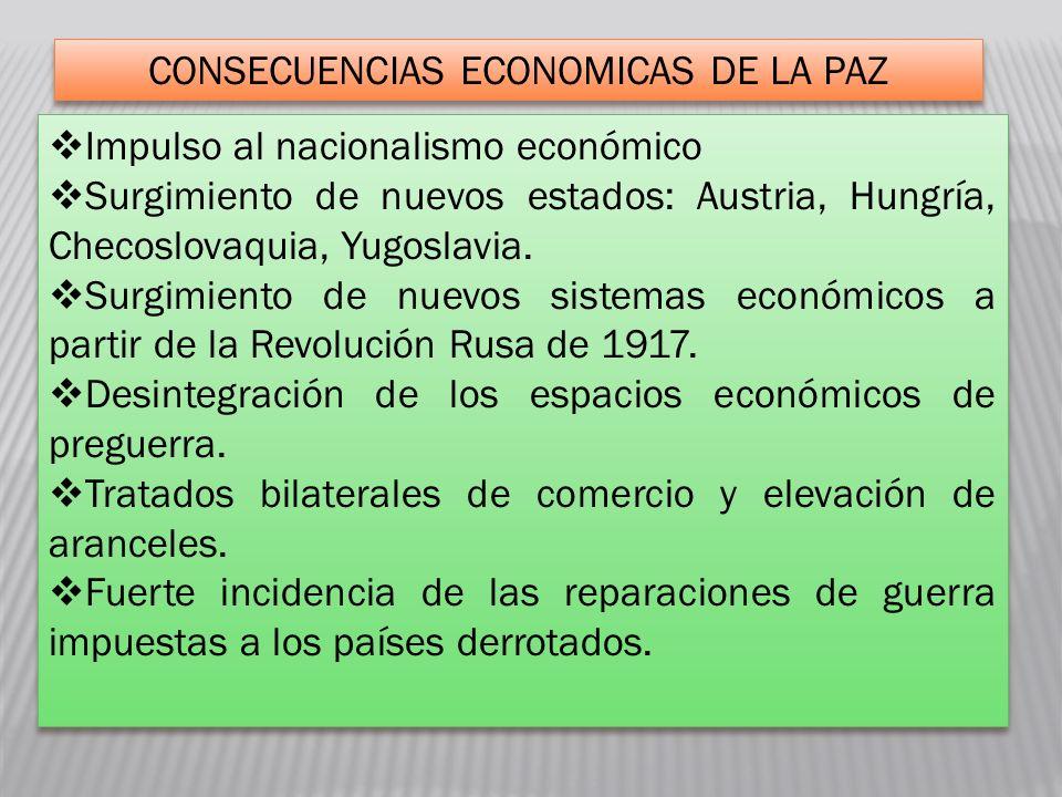 CONSECUENCIAS ECONOMICAS DE LA PAZ