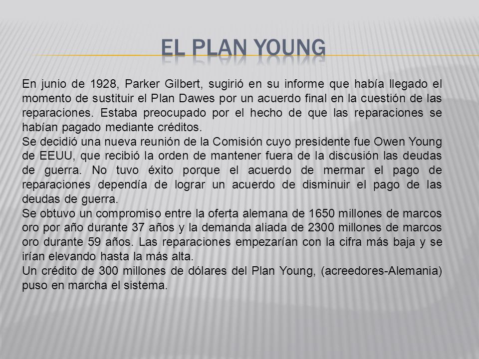 EL PLAN YOUNG