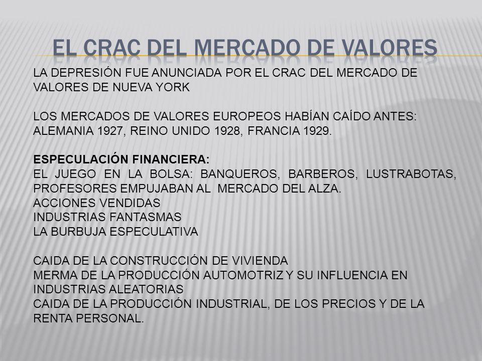 EL CRAC DEL MERCADO DE VALORES