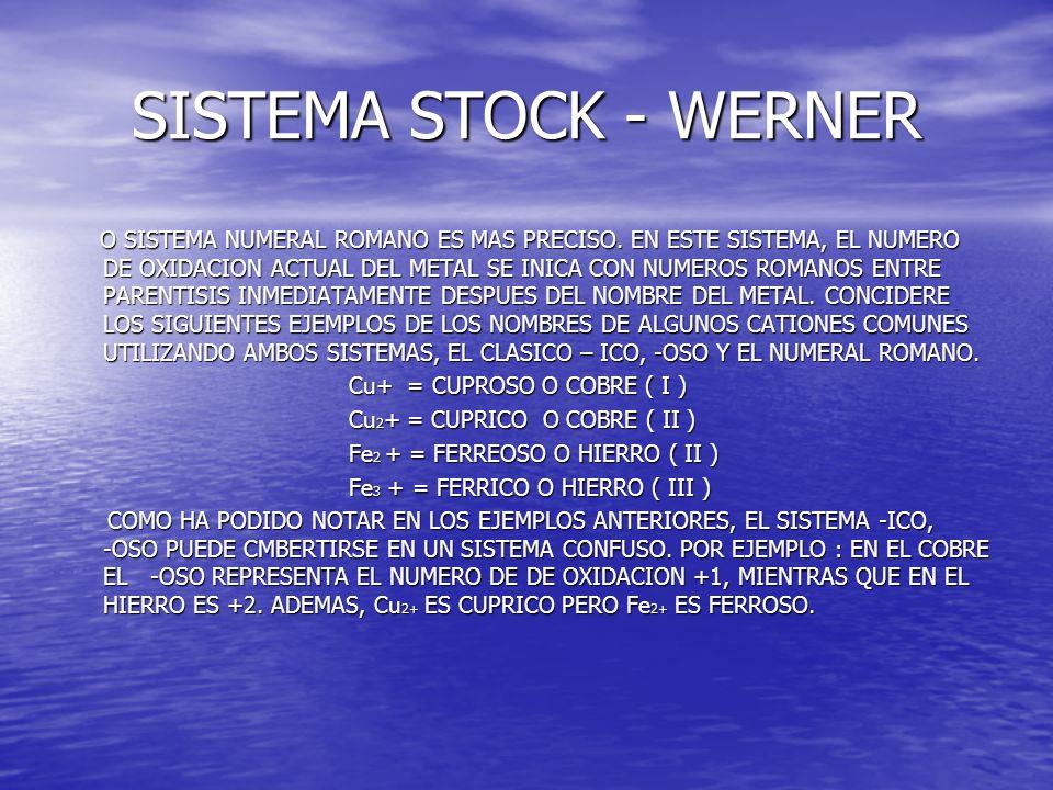SISTEMA STOCK - WERNER