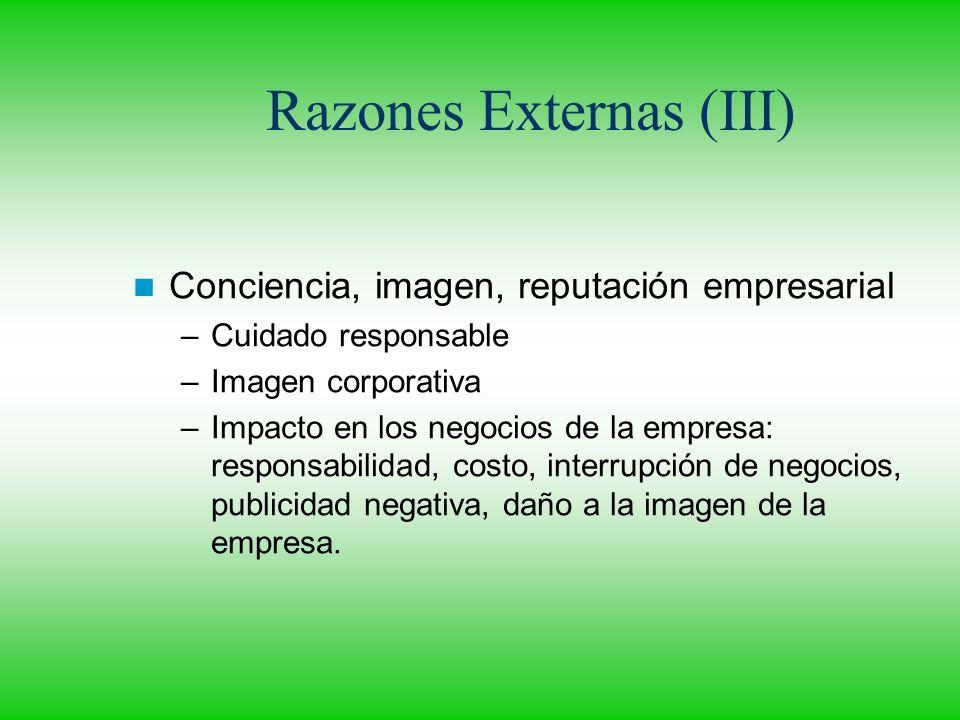 Razones Externas (III)