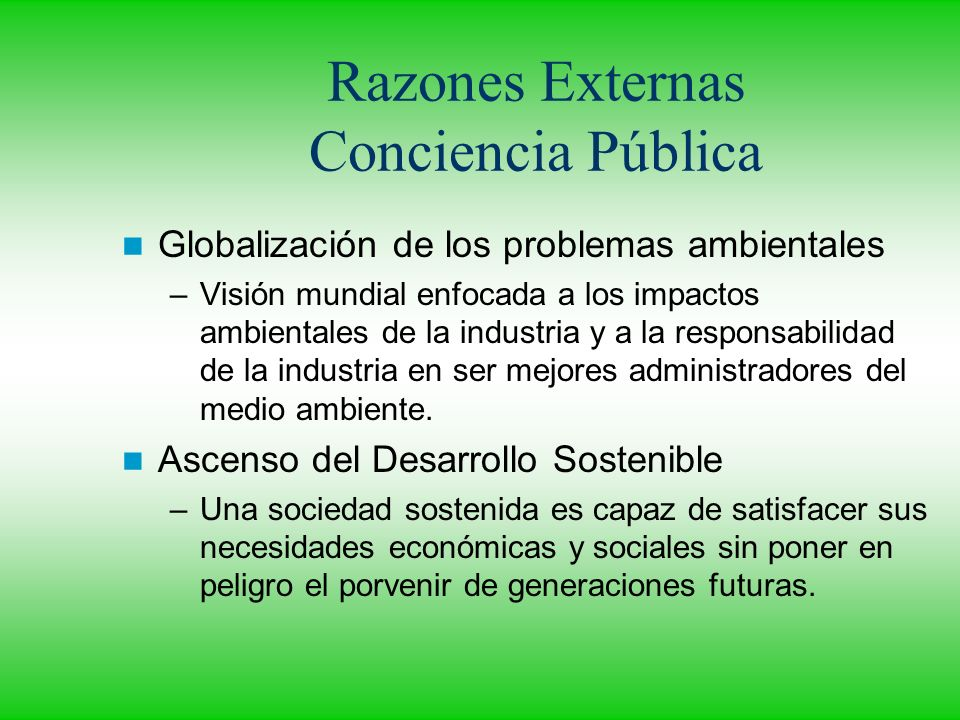 Razones Externas Conciencia Pública