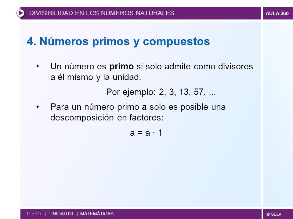 4. Números primos y compuestos