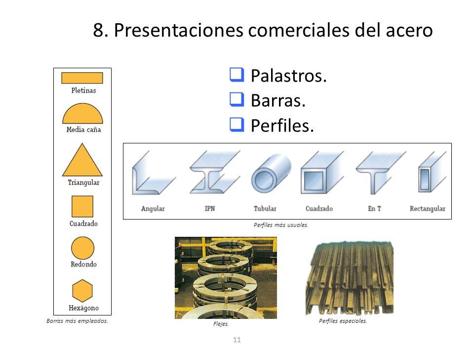 8. Presentaciones comerciales del acero