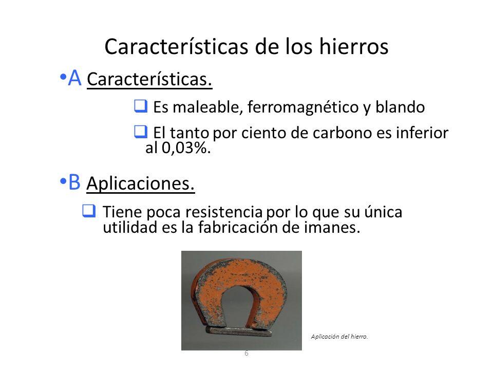Características de los hierros