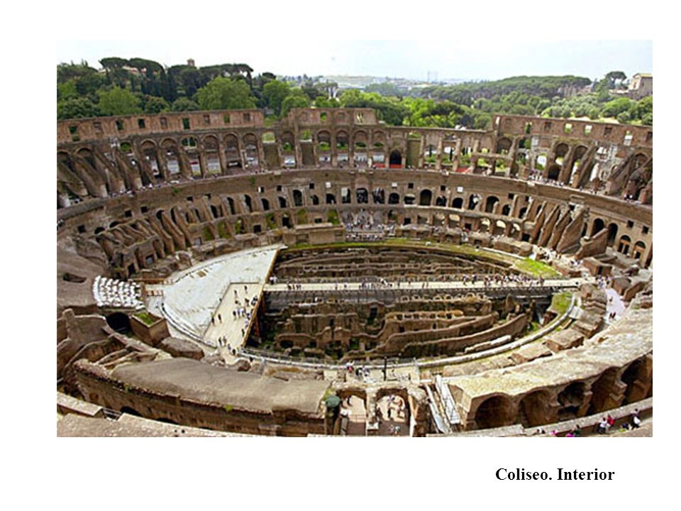 Coliseo. Interior