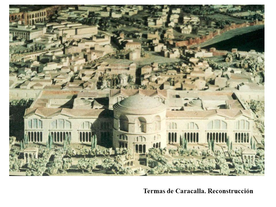 Termas de Caracalla. Reconstrucción