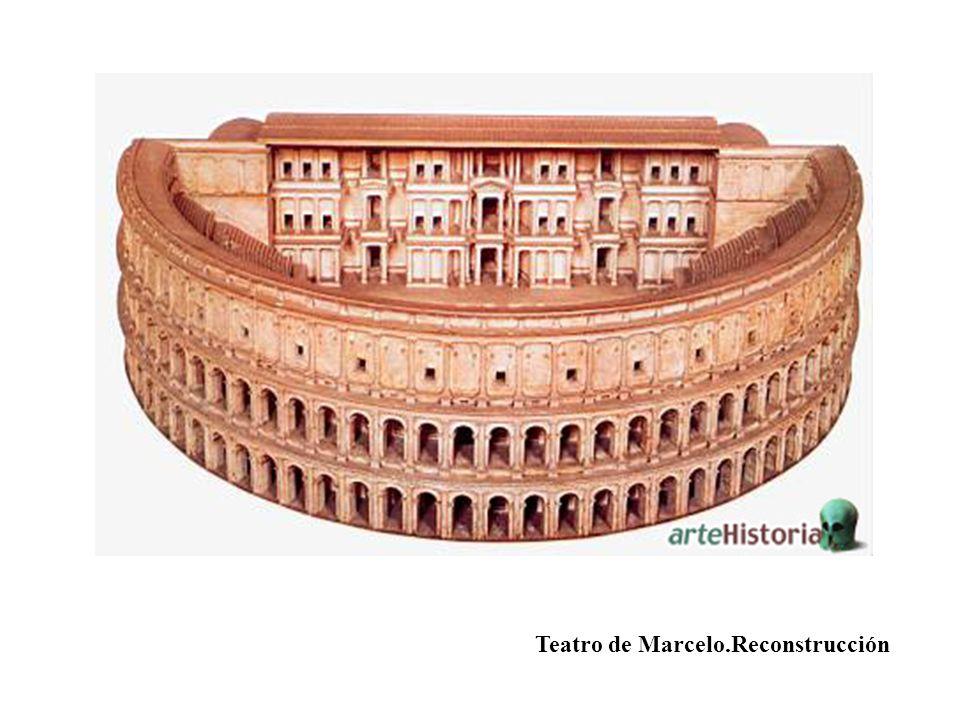 Teatro de Marcelo.Reconstrucción