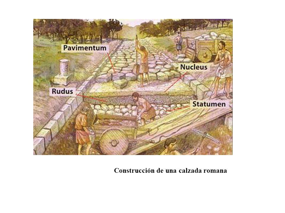 Construcción de una calzada romana