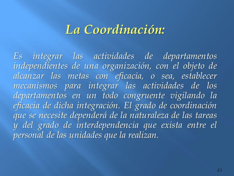 La Coordinación:
