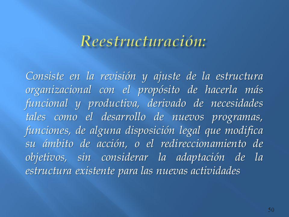 Reestructuración: