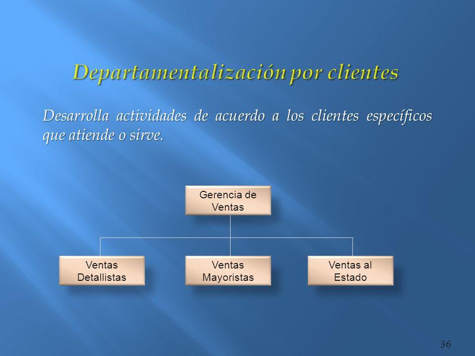 Departamentalización por clientes