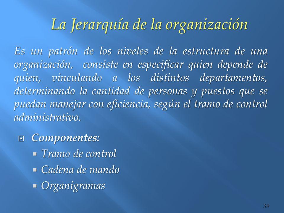 La Jerarquía de la organización