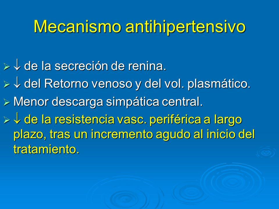 Mecanismo antihipertensivo